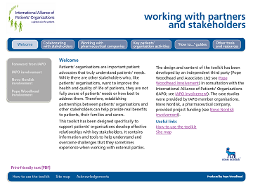 Working with partners and stakeholders toolkit